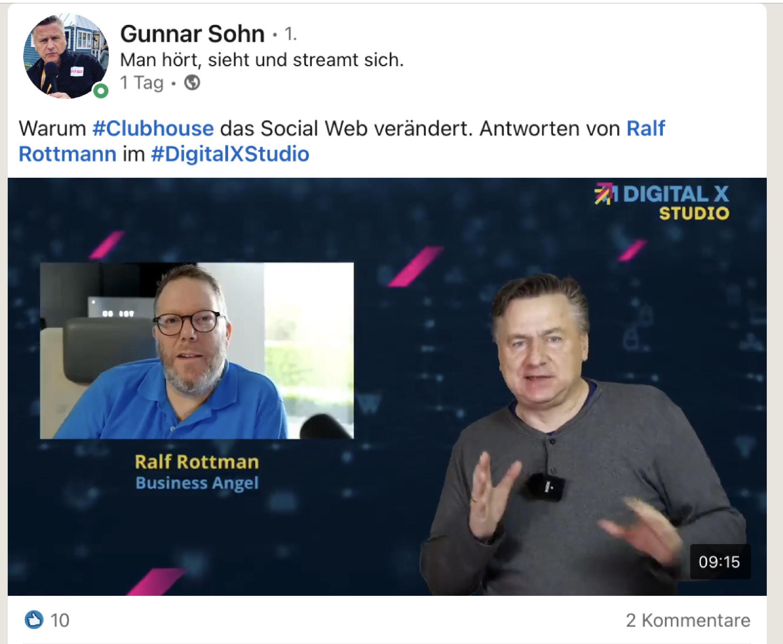Gunnar Sohn und Ralf Rottmann zu Clubhouse