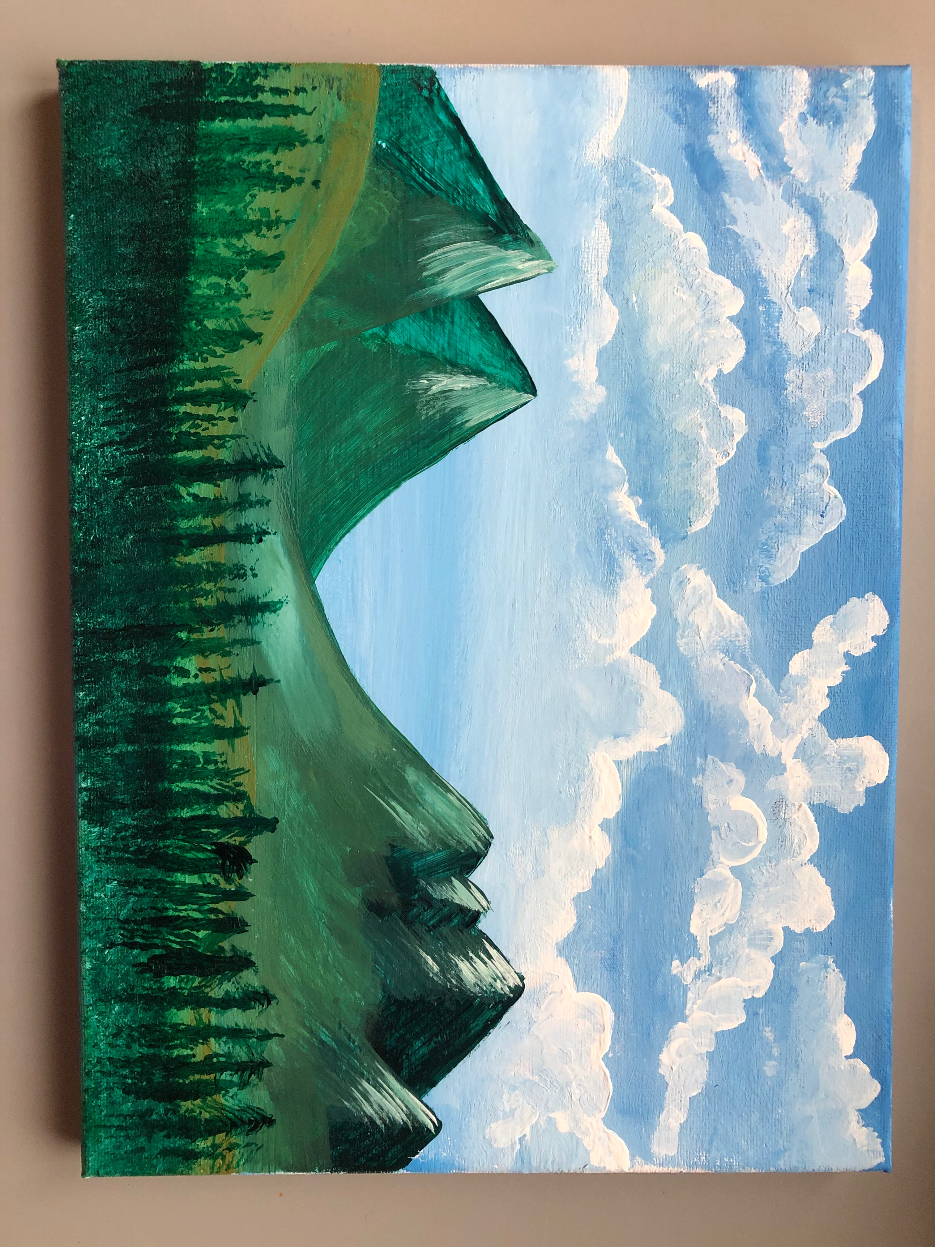 Countryside Mountains painted by @rudash