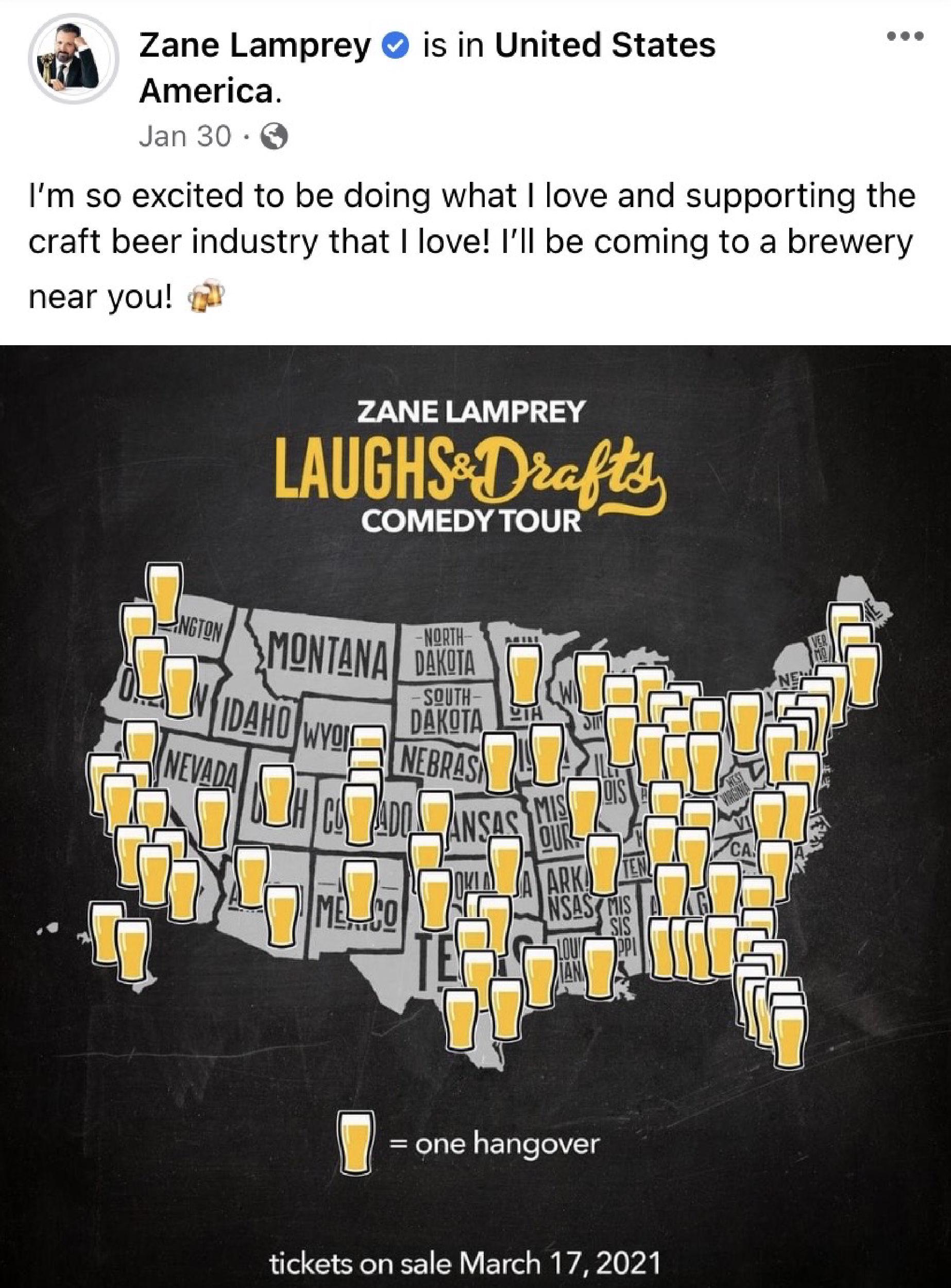 Laughs & Drafts Comedy Tour