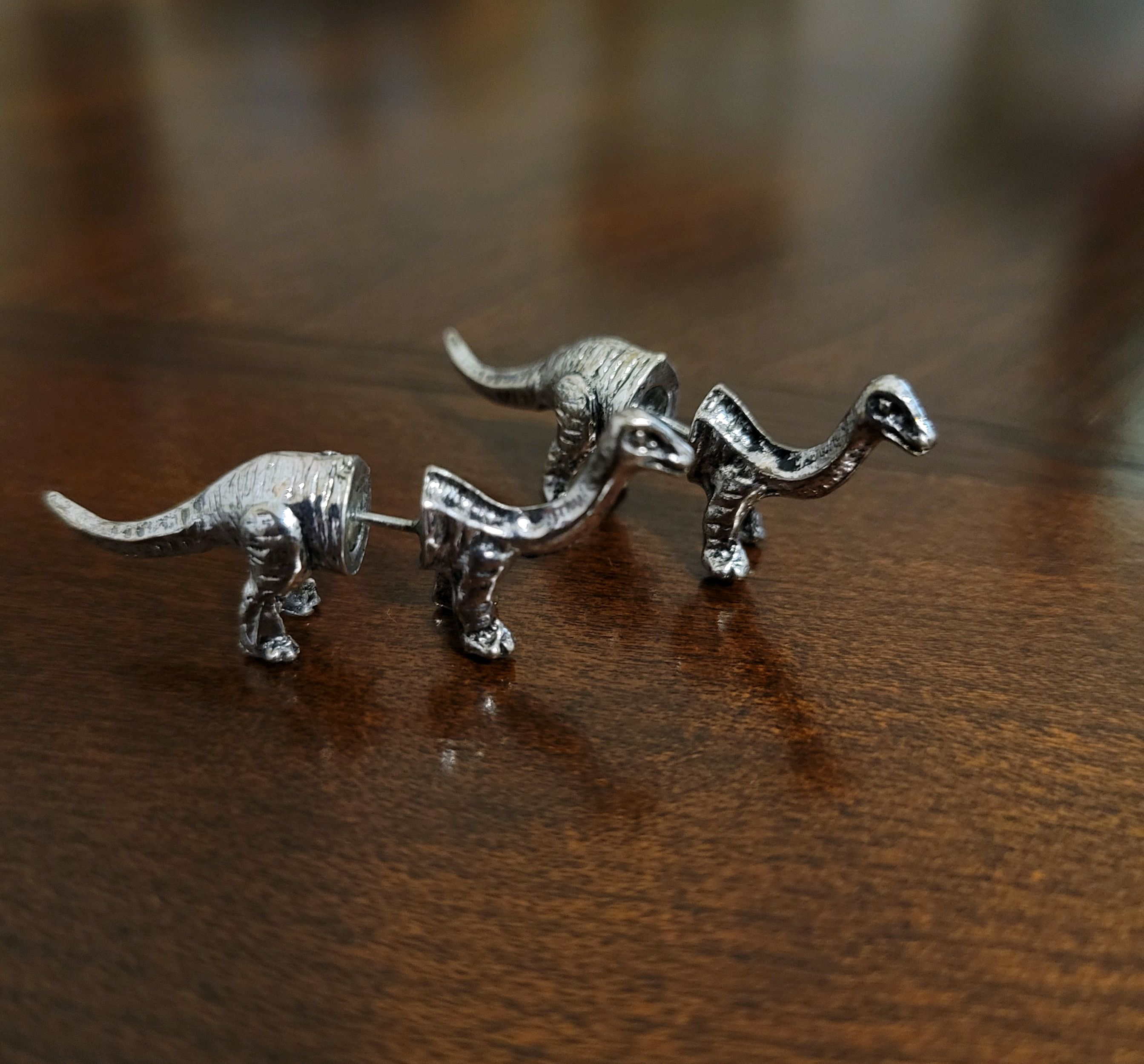 Dinosaur earings, the holder of precious memories