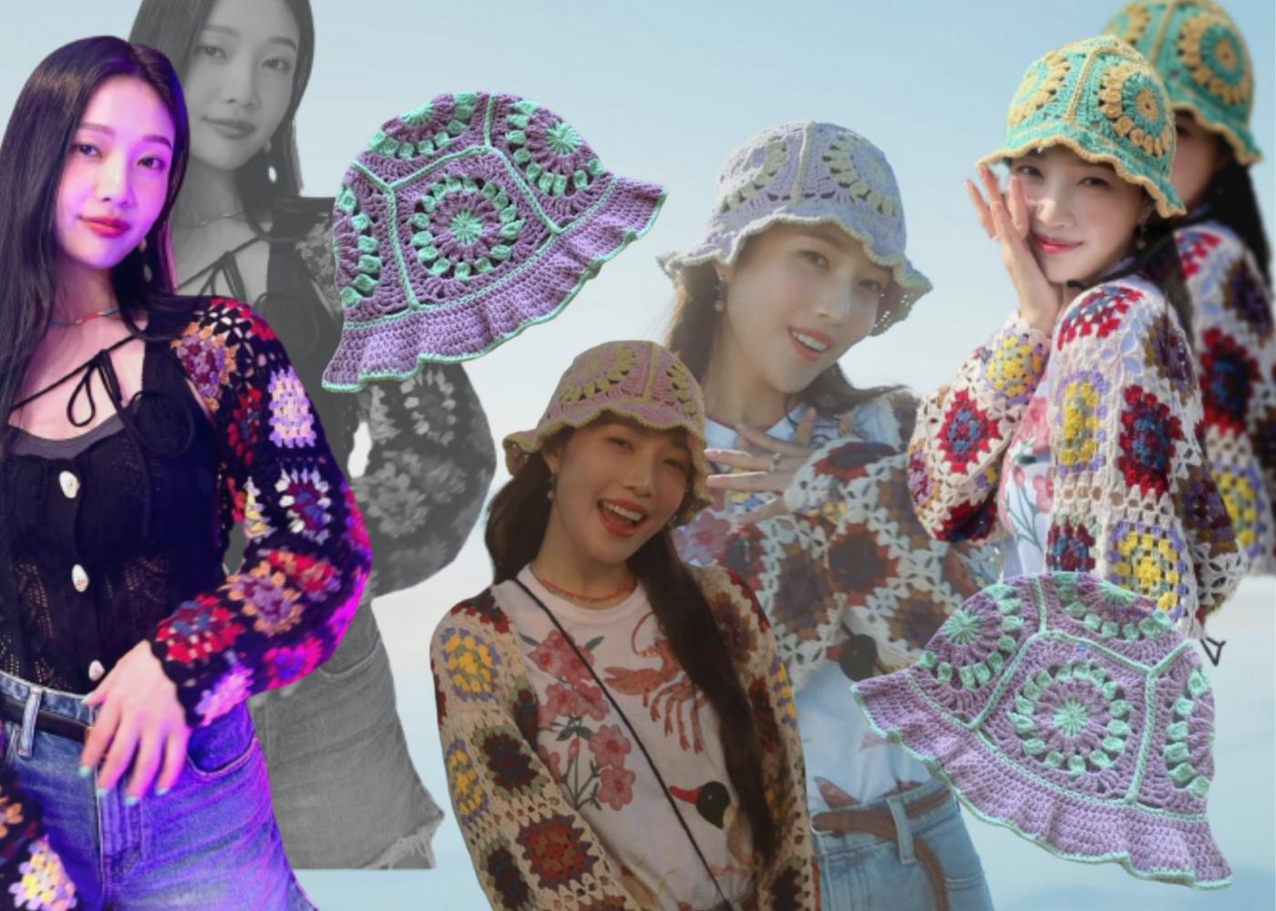 "Crochet outfit from ""Hello"" mv by Joy (Red Velvet)"