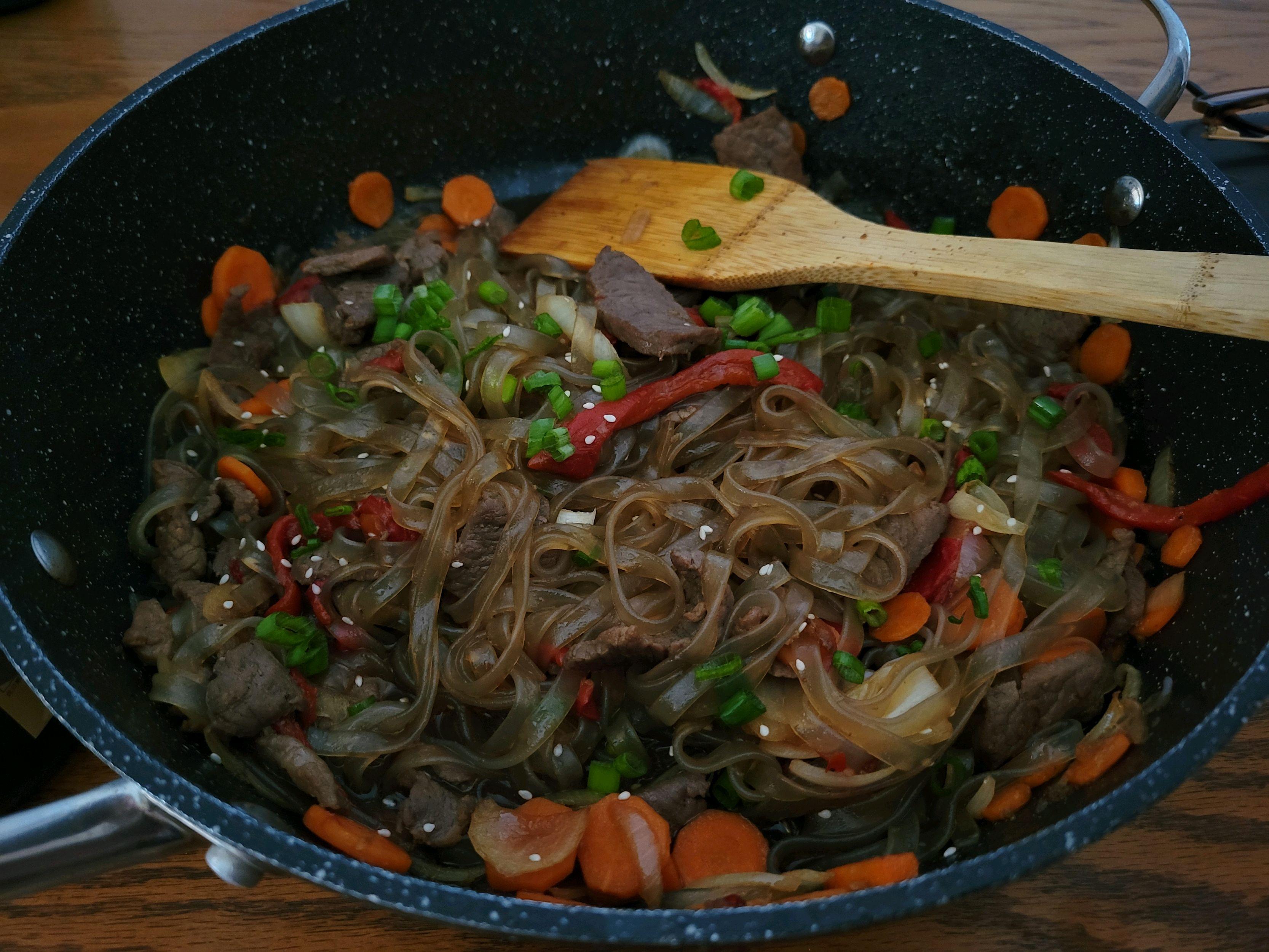 Japchae dish. Made and taken by @r_sylvar