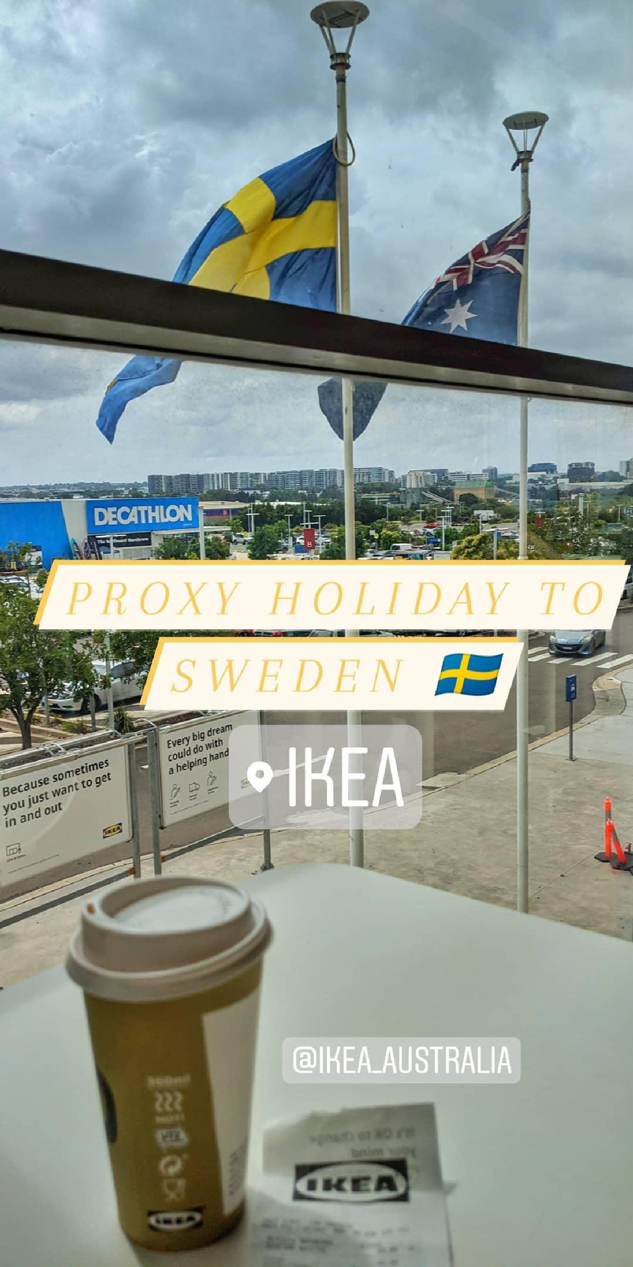 Proxy holiday to Sweden.