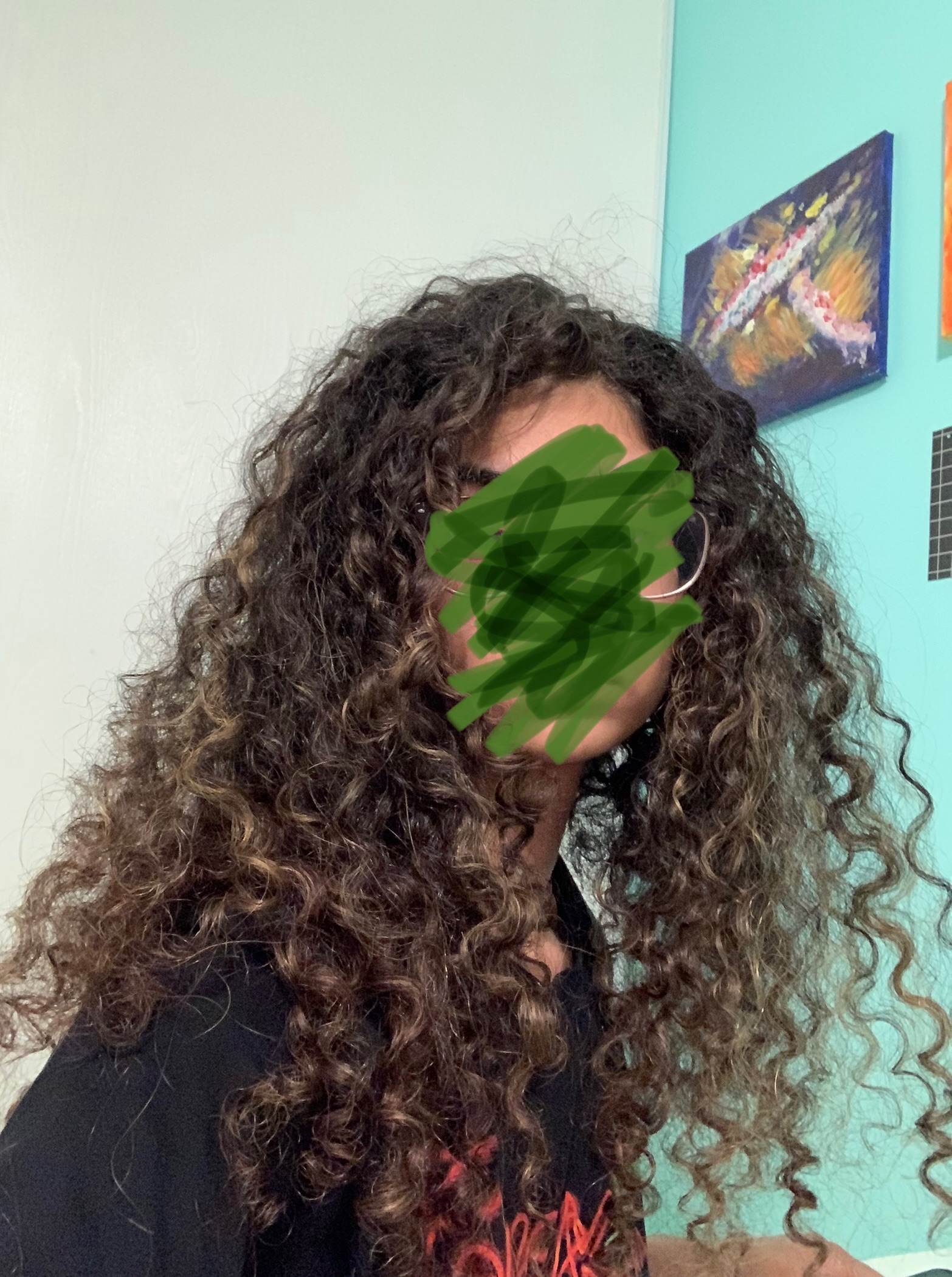 My hair a year ish ago