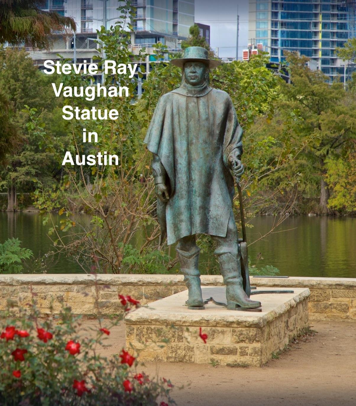 Statue of SRV in Austin TX