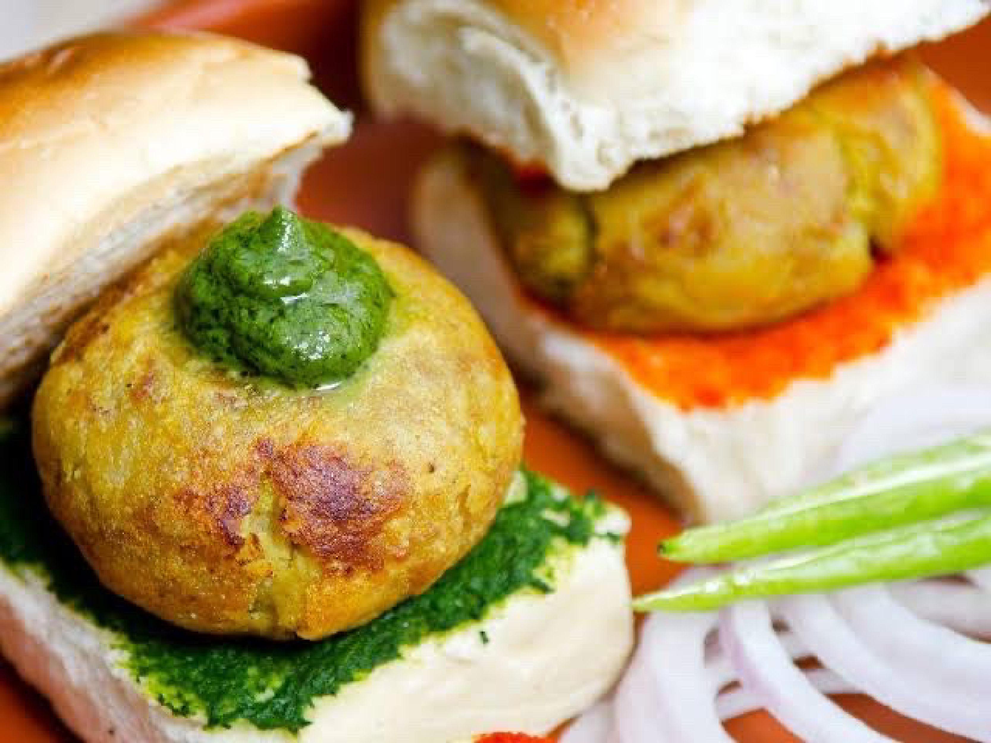 Vada Pav is the most popular street food option!