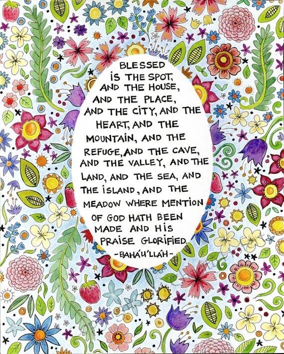 An Etsy fine art print of the prayer