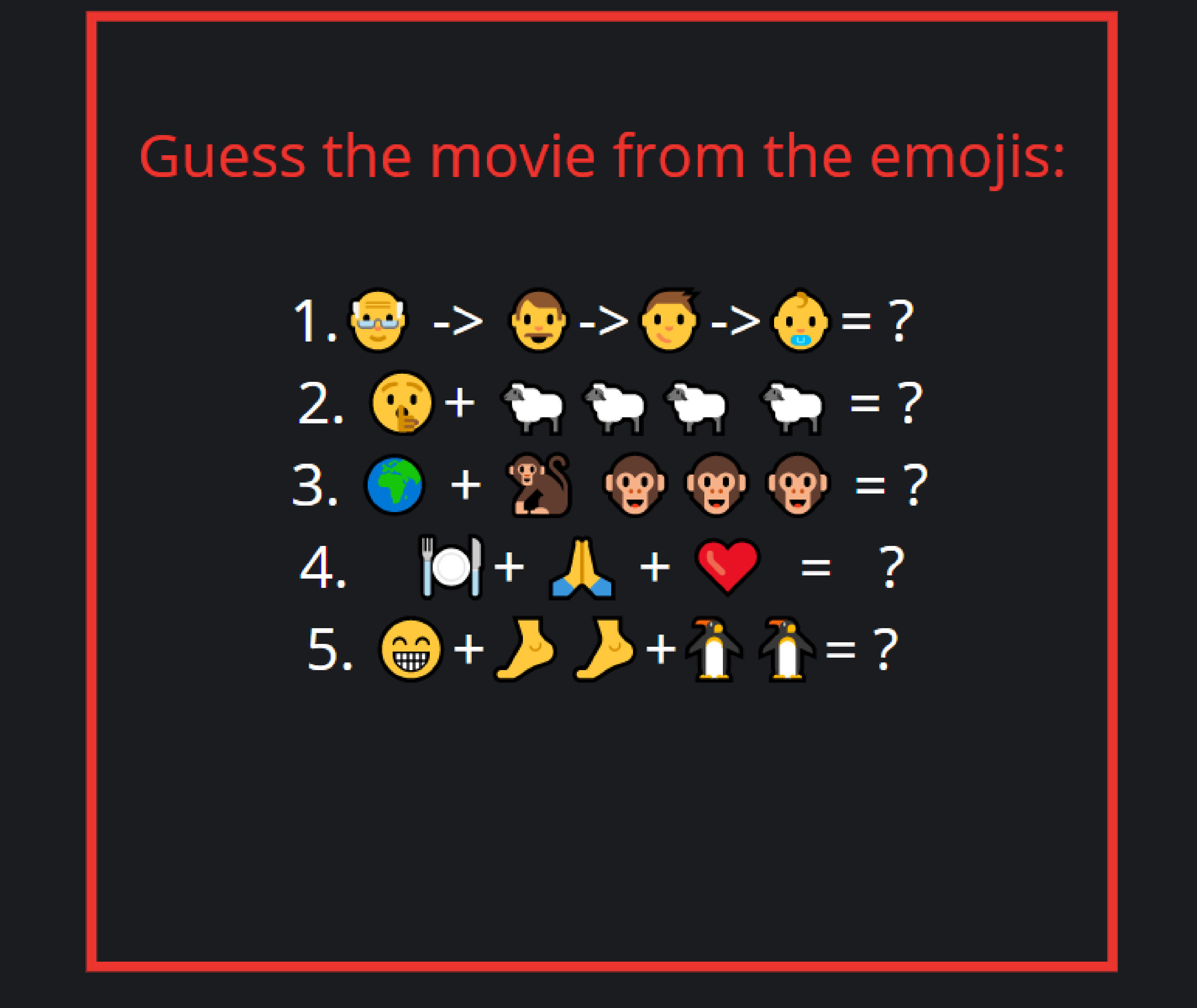 Guess the movie..