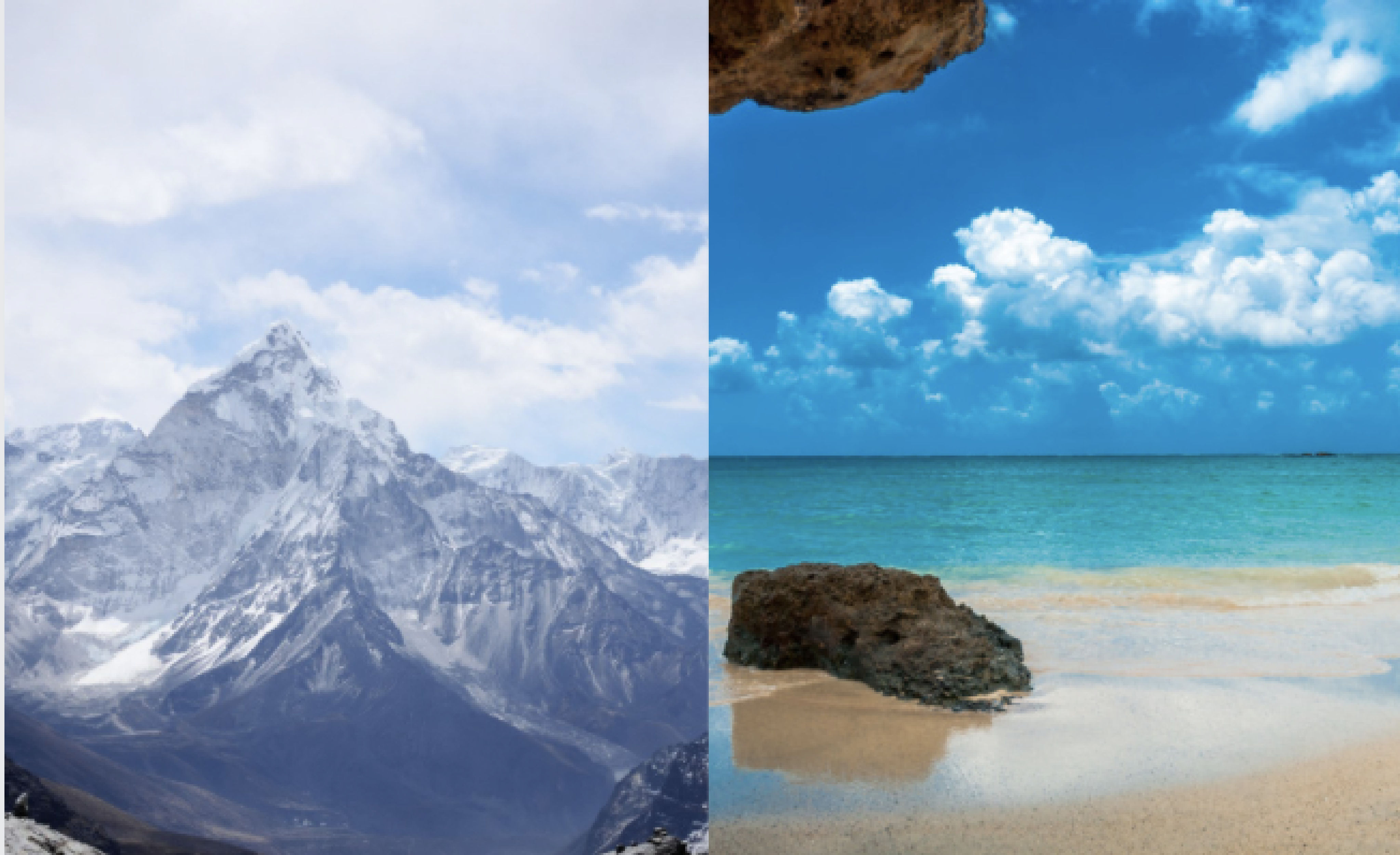 mountains or beaches