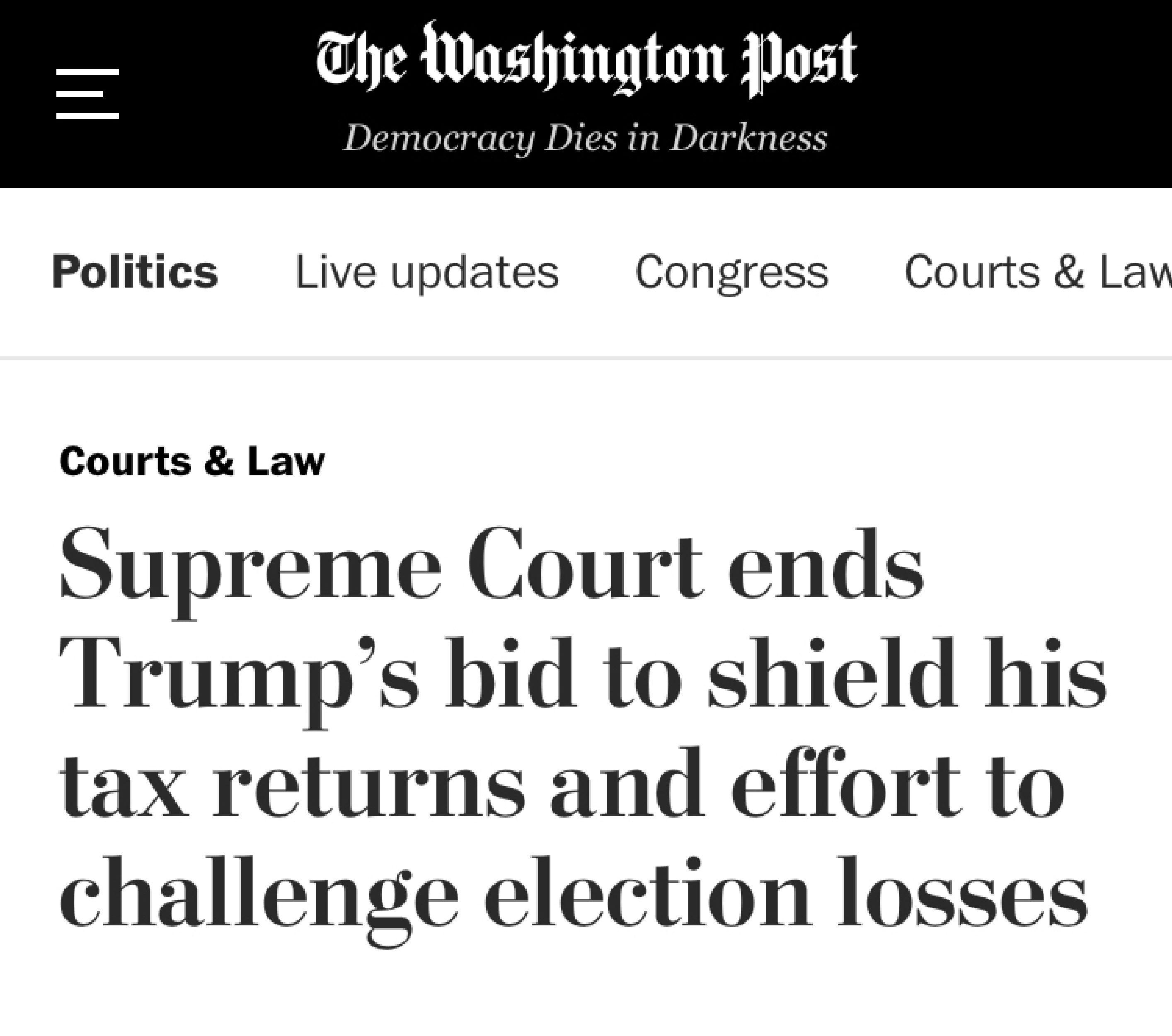 Thank you, Washington Post