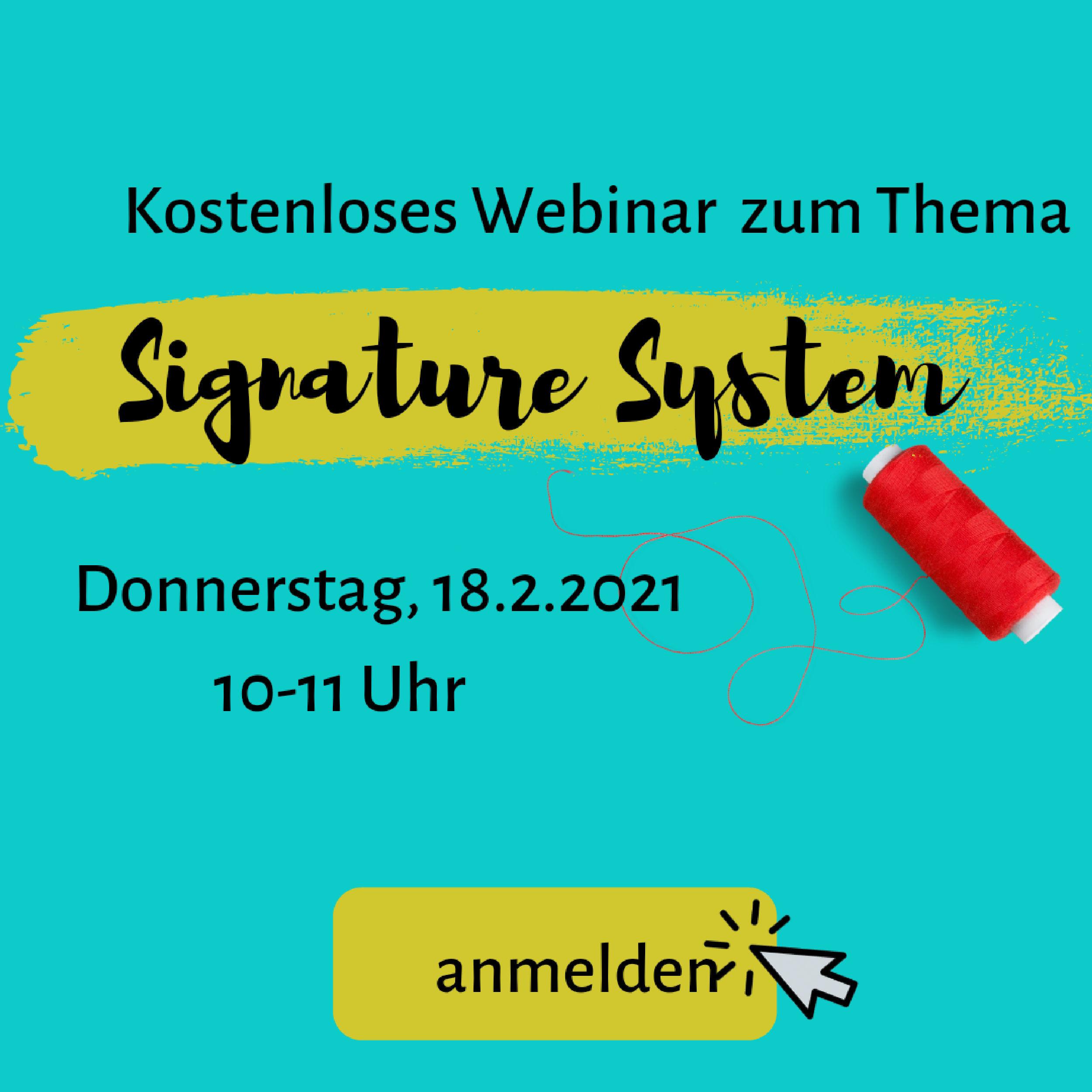 Einladung zum Webinar Signatur System