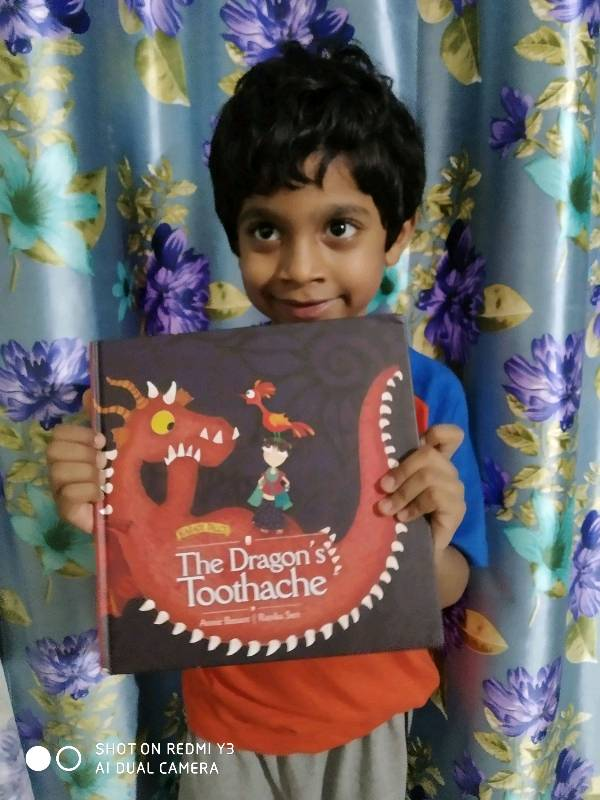 The Dragons toothache read by Gaurav Kasarla, aged 6, Hyderabad, India.