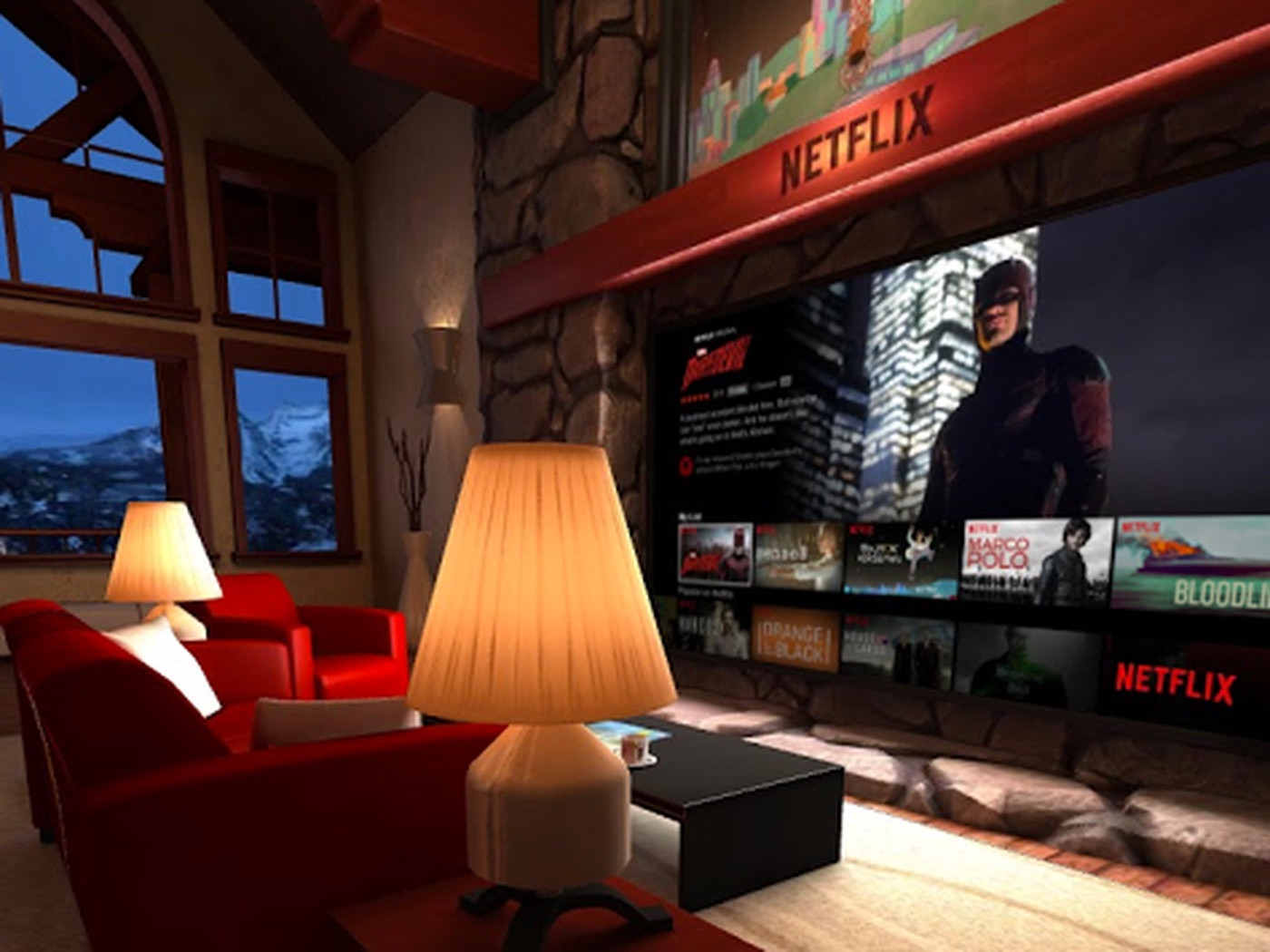 NETFLIX VR room on quest 2 Uploaded by @Alextench