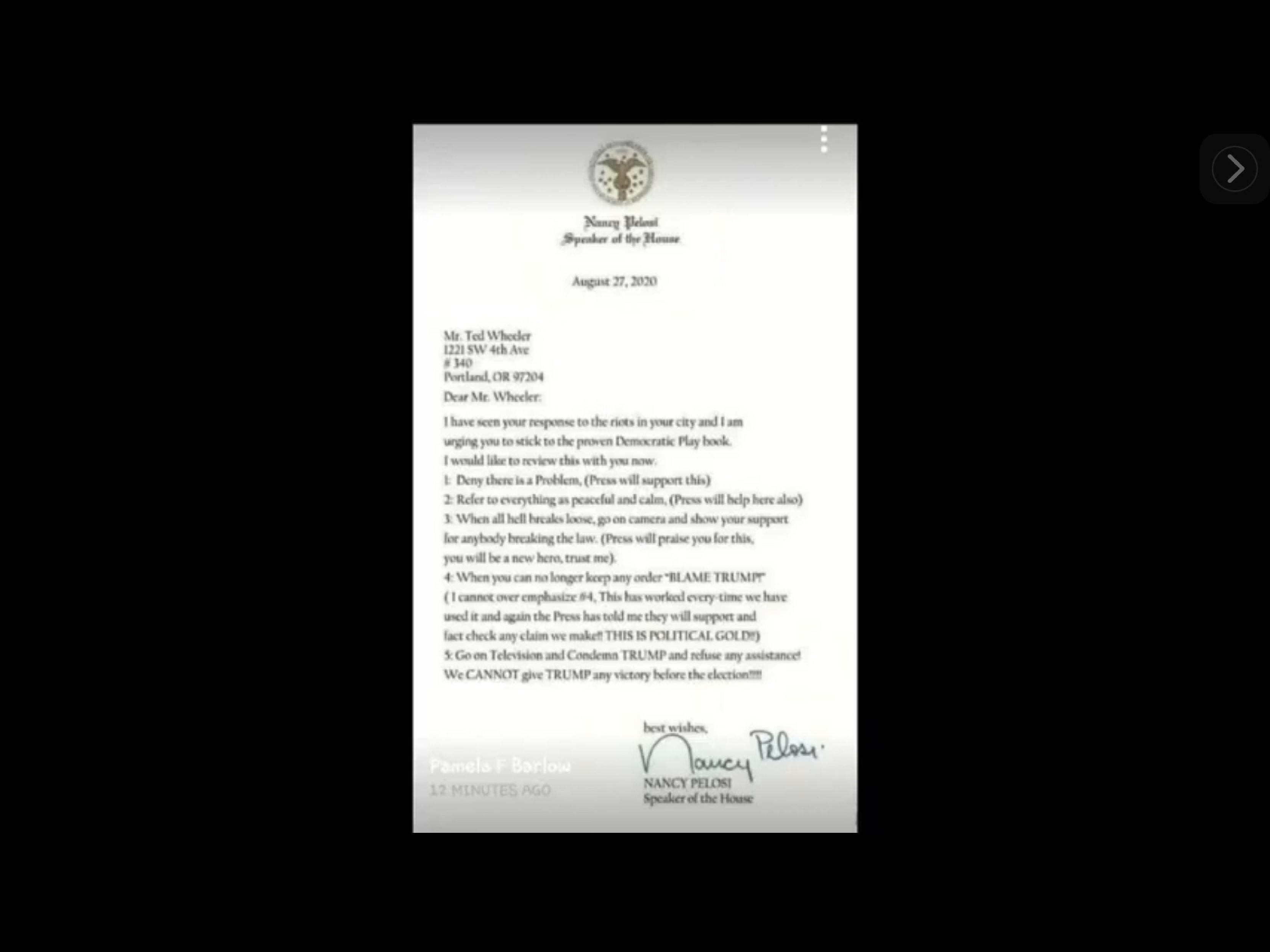 Nancy letter