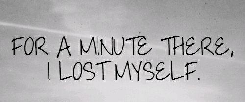 I feel Lost in Myself