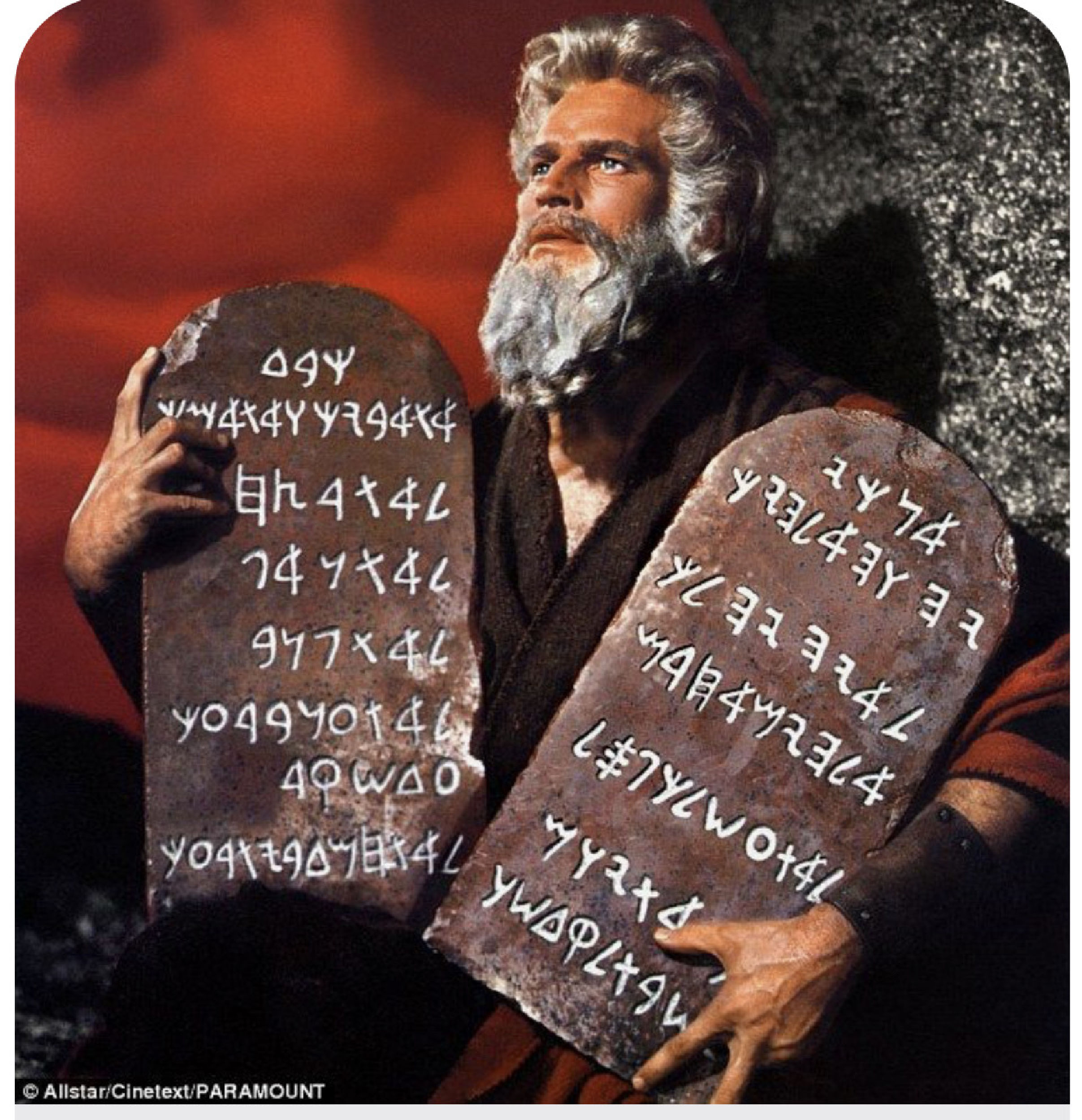 Here comes Moses!